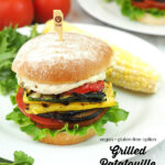 grilled ratatouille sandwiches on plate with text overlay