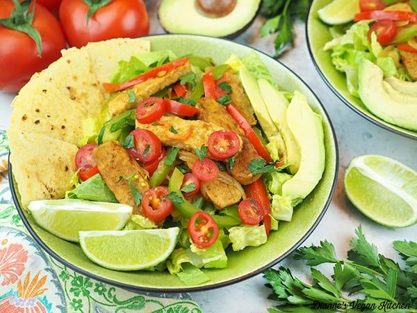 two salad bowls horizontal