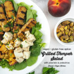 Grilled Tempeh Salad with text overlay