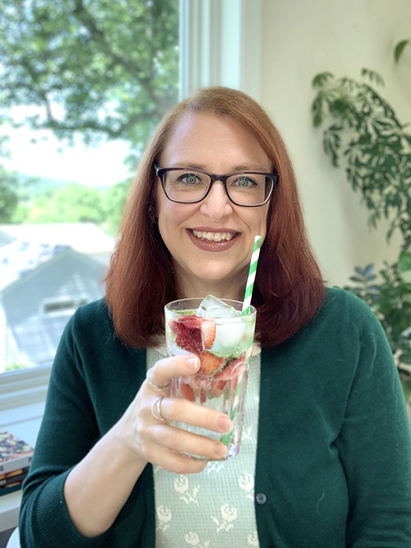 Dianne with Sparkling Water