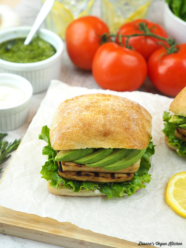 Grilled Tofu Sandwich