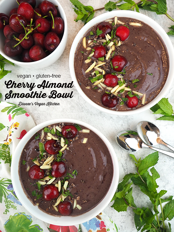 Cherry Smoothie Bowl with text overlay