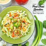 Peanutty Pad Thai Zoodles with text overlay