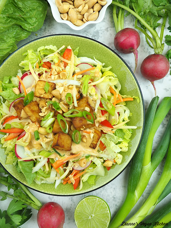 salad with radishes and scallions
