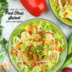 Pad Thai Salad with text overlay