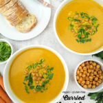 Curried Carrot Soup with text overlay