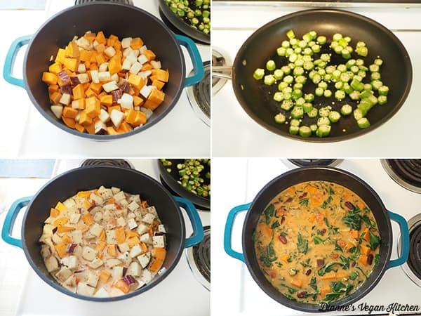making stew collage