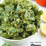 kale chips with text overlay